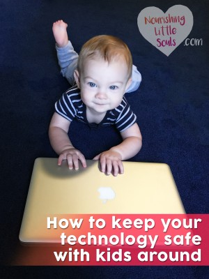 GREAT tips for keeping your technology safe with kids around!