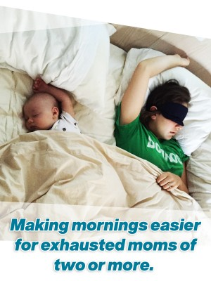 For moms living on newborn sleep and also have an older child, here are 5 tips to make morning easier!