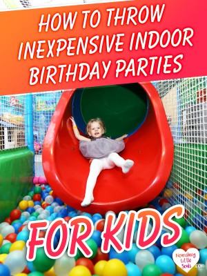 GREAT tips for throwing an indoor birthday party on the cheap!